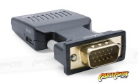 Compact VGA + Audio to HDMI Converter (In-line, USB Powered) (Thumbnail )