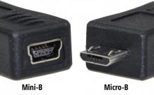USB Adaptor Mini-B 5-Pin Female to Micro USB Male (Thumbnail )