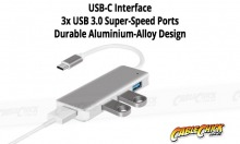 Super-Speed 4-Port USB 3.0 Hub with Type-C Interface (Thumbnail )
