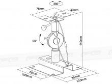 Extra Heavy Duty Speaker Wall / Ceiling Mounting Bracket - 10kg (Thumbnail )