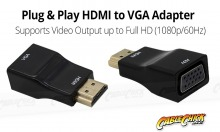 Plug & Play HDMI to VGA Adapter (Thumbnail )