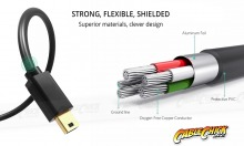 1m USB 2.0 Hi-Speed Cable (A to Mini-B 5 Pin) (Thumbnail )
