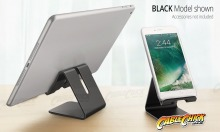 Universal Aluminium Phone Stand - Black (for Phones & Small Tablets) (Thumbnail )