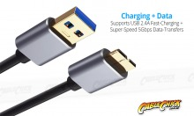 Premium 0.5m Micro-USB 3.0 Super-Speed Cable for HDDs (A to Micro-B 10-Pin) (Thumbnail )