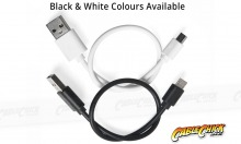 1m Micro USB 2.0 Hi-Speed Cable (A to Micro-B 5 Pin - WHITE) (Thumbnail )