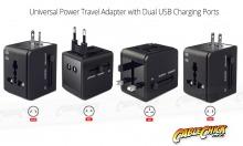 Universal Travel Mains Socket Adapter with Dual USB Charger (Thumbnail )