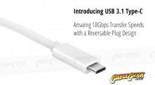 10cm USB-C OTG Cable (USB 2.0 Interface - White) (Thumbnail )