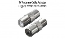 TV Antenna Cable Adapter - F-Type (Female) to PAL (Male) (Thumbnail )