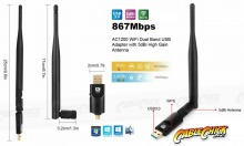 Dual-band Wireless-AC1200 USB WiFi Adapter (PC, Mac & Linux) (Thumbnail )