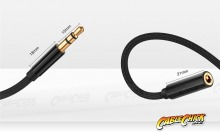 1.8m Slim-fit Stereo Audio 3.5mm AUX Extension Cable (Male to Female) (Thumbnail )
