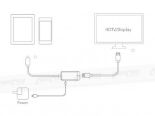 10cm Apple Lightning to HDMI Adaptor Cable (Thumbnail )