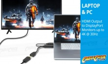 Active HDMI to DisplayPort Converter Cable (Thumbnail )