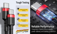 Premium 1m USB-C 60W Cable (Black) (Thumbnail )