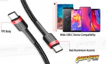 Premium 2m USB-C 60W Cable (Black) (Thumbnail )
