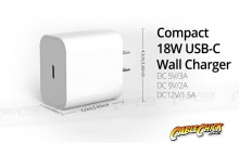 Single Socket 18W PD USB-C Wall Charger (5V/3A) (Thumbnail )