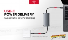 10-in-1 USB-C Hub with 60W Power Delivery (3x USB 3.0, HDMI, VGA Ethernet & Card Reader) (Thumbnail )