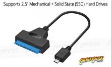 "USB-C to SATA HDD Adapter Cable Kit (Supports 2.5"" Mechanical & SDD SATA Drives) (Thumbnail )"