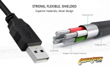1.5m USB 2.0 Hi-Speed Cable (A to Mini-B 5 Pin) (Thumbnail )