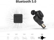 Bluedio T-Talking In-Ear Bluetooth 5.0 Wireless Sports and Handsfree Ear-Bud (Thumbnail )