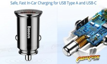 Dual-Port 30W USB Car Charger with QC4, 5A Fast Charging & USB-C (Thumbnail )