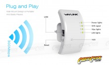 Wavelink 300Mbps Wireless Repeater & WiFi Access Point (Wireless N 802.11b/g/n) (Thumbnail )