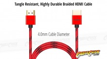 1m Voxlink Braided Ultra-Thin HDMI Cable (High-Speed HDMI v2.0a with Ethernet) (Thumbnail )