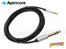1m Avencore Crystal Series 3.5mm to 6.5mm Stereo Audio Cable (Thumbnail )