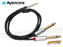 1m Avencore Crystal Series 3.5mm Stereo to 6.5mm Dual Mono Audio Cable (Thumbnail )