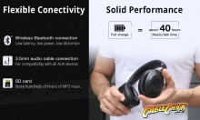 Bluedio Hurricane Active Noise Cancelling Headphones (Bluetooth v5 + USB-C Interface) (Thumbnail )