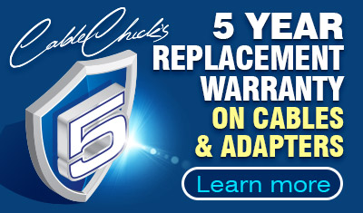 5-Year Warranty on Cables & Adapters