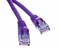 0.5m CAT6 RJ45 Ethernet Cable (Purple) (Thumbnail )