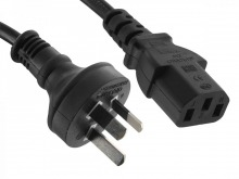 0.5m IEC Power Cable (IEC-C13 to Australian Mains Plug)