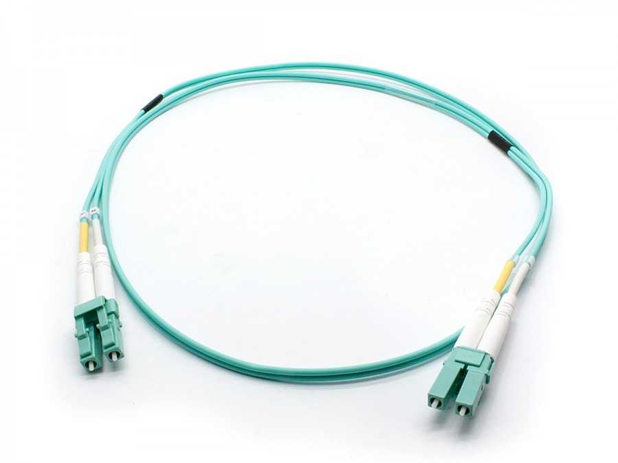 1m OM3 Multimode LC-LC Fibre Optic Patch Cable (Photo )