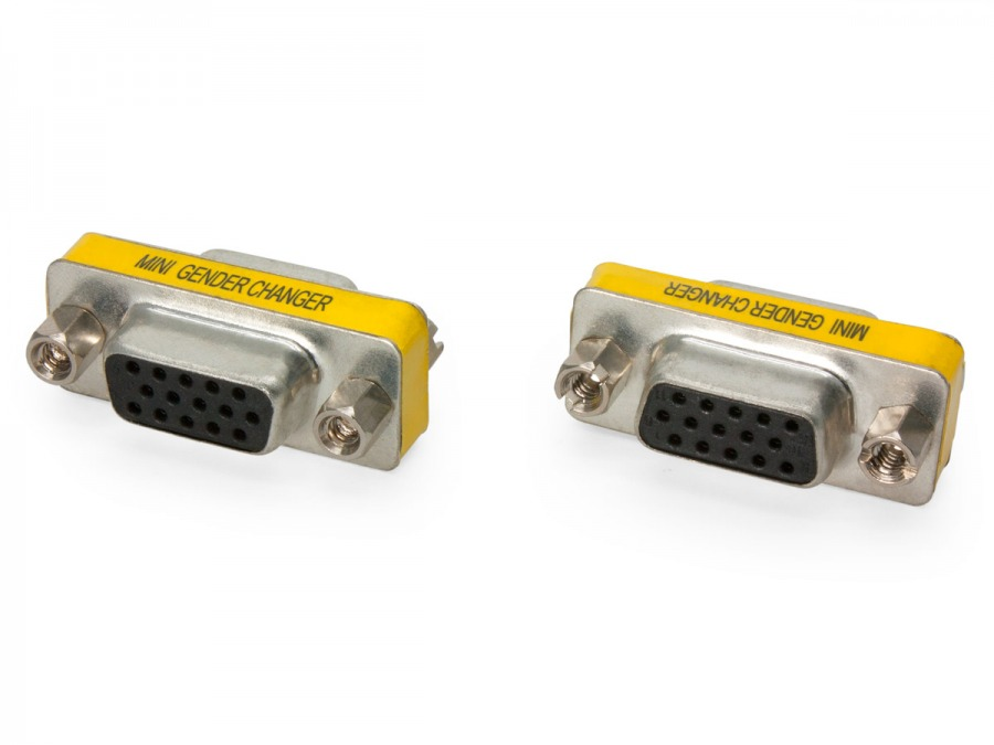 15 Pin VGA Coupler (Female to Female) (Photo )