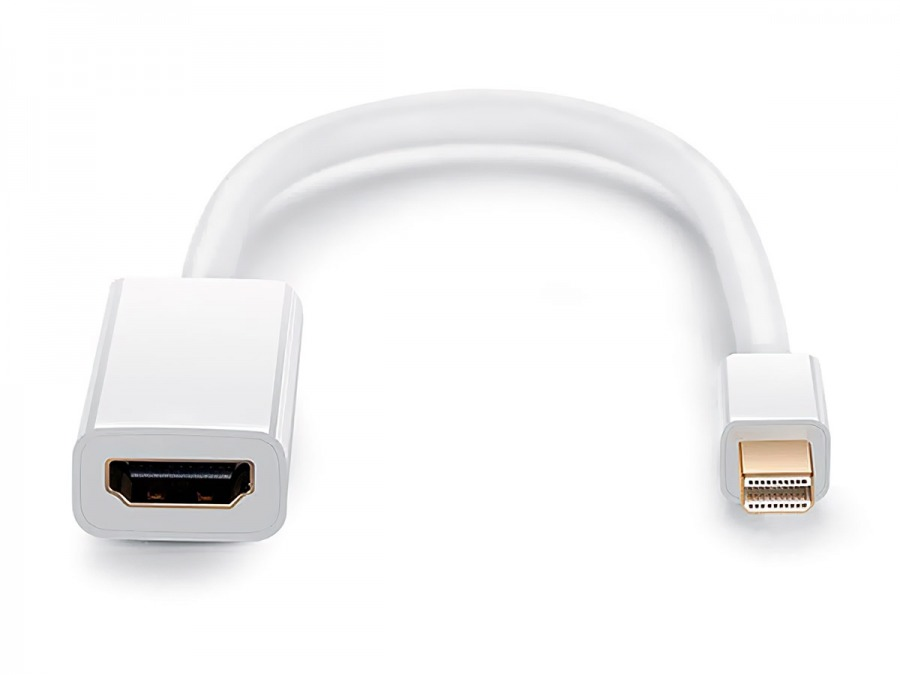 15cm Mini-DisplayPort to HDMI Cable Adapter (Male to Female) - Thunderbolt Socket Compatible