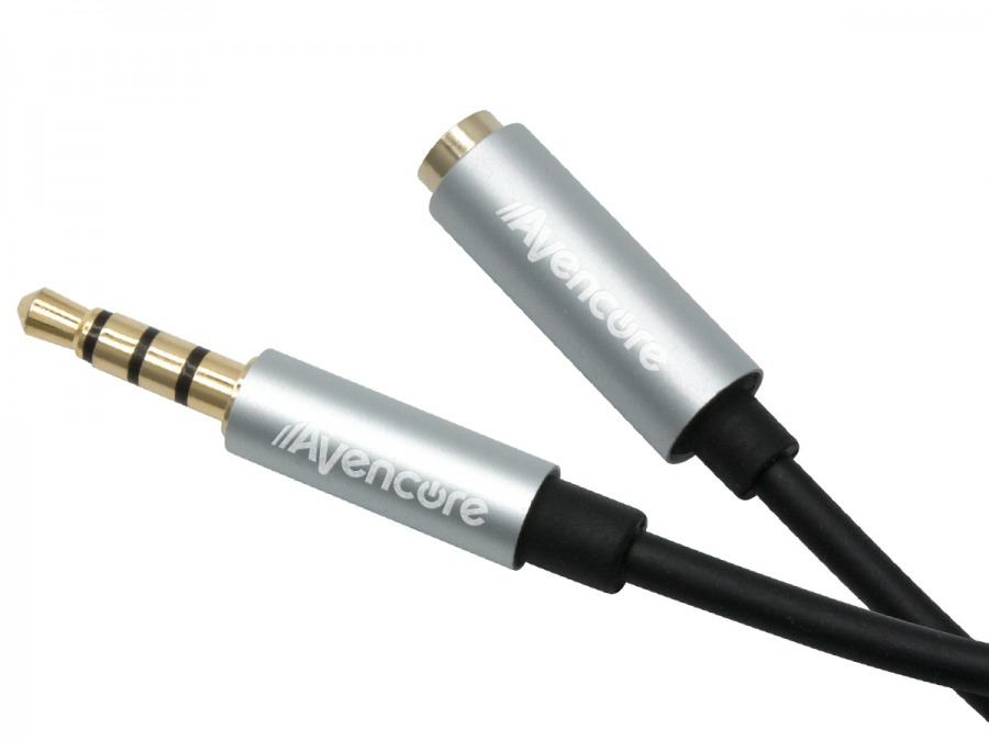 1m Avencore Crystal Series 4-Pole TRRS 3.5mm Extension Cable (Male to Female) (Photo )