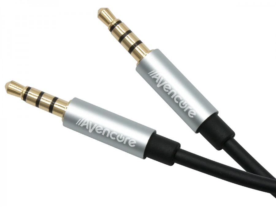 1m Avencore Crystal Series 4-Pole TRRS 3.5mm Cable (Photo )
