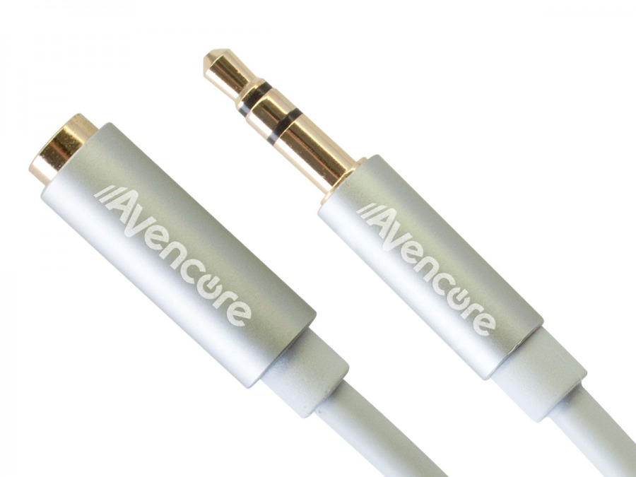 1m Avencore Crystal Series 3.5mm Stereo Audio Extension Cable