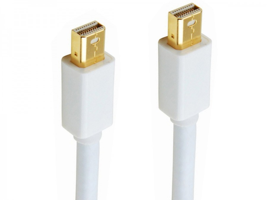 1m Mini-DisplayPort Cable (Male to Male) - Thunderbolt Socket Compatible (Photo )