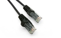 1m Ultra-Thin CAT6 RJ45 Ethernet Cable (Black, LSZH Compliant)
