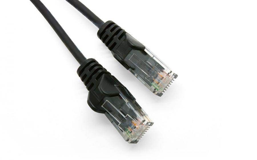 1m Ultra-Thin CAT6 RJ45 Ethernet Cable (Black, LSZH Compliant)