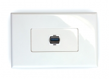 1x SuperSpeed USB 3.0 Wall Plate (Type A Female) (Photo )