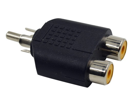 2RCA Female to 1RCA Male Adaptor