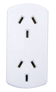 Australian Power Socket Vertical Double Adaptor
