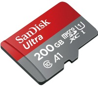 200GB SanDisk Ultra Micro SDXC Memory Card with SD Adapter (Class 10 UHS-1)