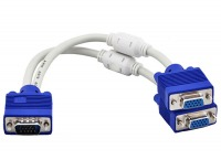 20cm Premium VGA Splitter Y-Cable (Male to 2x Female)