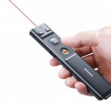 2.4GHz Wireless PowerPoint Presenter & Laser Pointer (USB A+C for PC & Mac)
