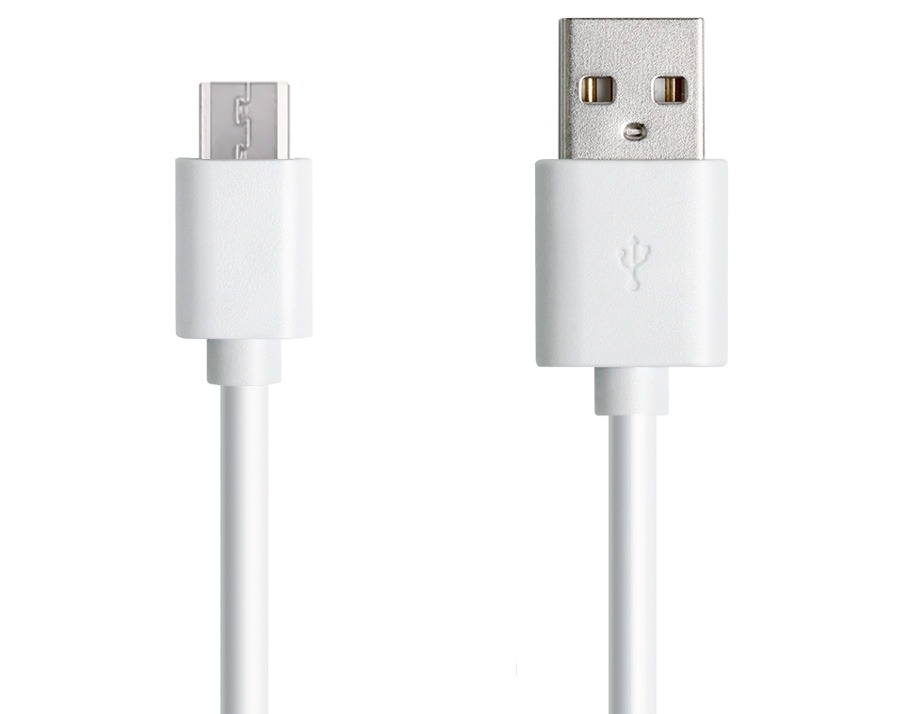25cm Micro USB 2.0 Hi-Speed Cable (A to Micro-B 5 Pin - WHITE) (Photo )