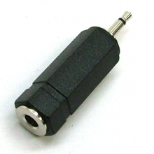 2.5mm Mono Mini Jack to 3.5mm Mono Socket (Female)