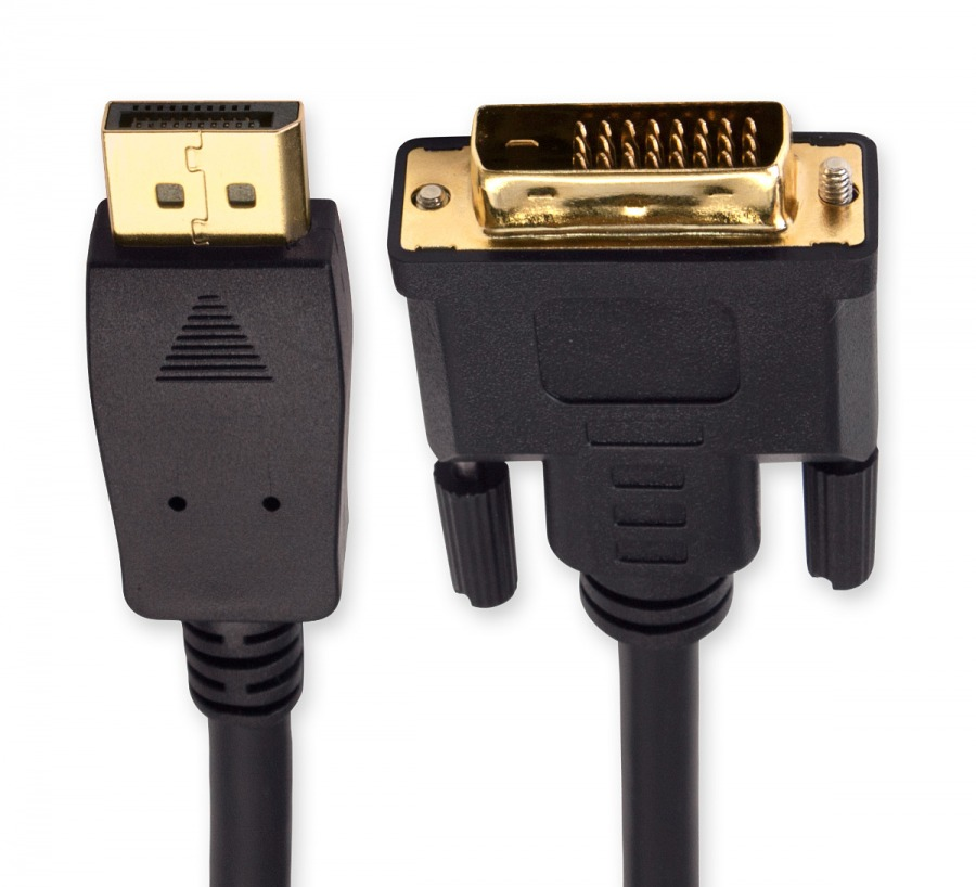 2m DisplayPort (Male) to DVI (Male) Cable